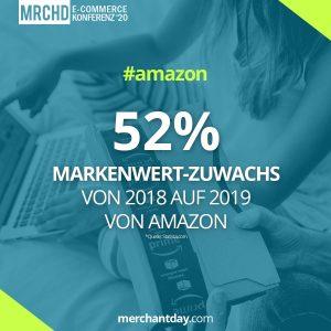 Amazon Statistik Amazon Markenwert-Zuwachs 2018 2019