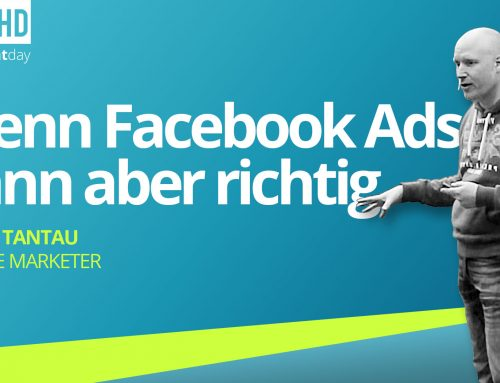 merchantday 2019 Vortrag Björn Tantau: Wie kann man mit Facebook Ads Umsätze im Onlinehandel steigern?