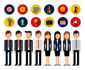 Zielgruppendefinition verschiedene Personen mit ihren Werten